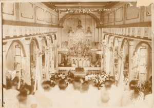 Diocesan Eucharistic Congress, San Pedro Parish 1936. Courtesy of Jesuit Archives.
