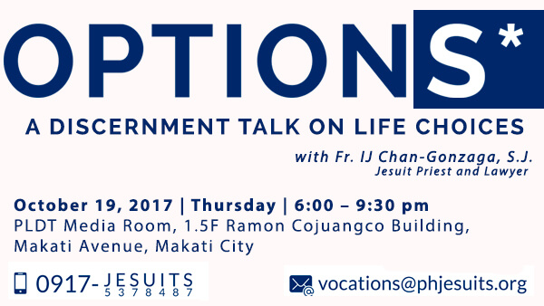 Options: Discernment Talk for Young Professionals on October 19