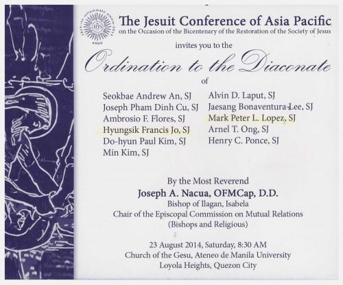 Invitation to diaconate jesuitaid invitation to diaconate e1407743764149 300x249 invitation to diaconate stopboris Images