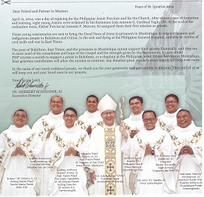 8 new Jesuit missionaries!