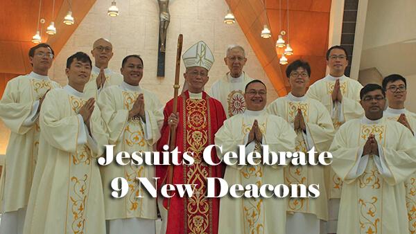 Jesuits Celebrate 9 New Deacons